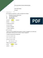 Práctica Calificada de Lógica Proposicional