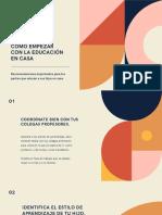 Colorido Geométrico Moderno Educación en Casa Aprendizaje a Distancia Eventos e Intereses Especiales Presentación