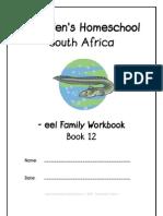 eel End-Word Family Workbook, Donnette E Davis, St Aiden's Homeschool, South Africa