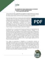 SEP Consideraciones Generales Para Formalizar El Regreso Voluntario a Clases Presenciales (1)