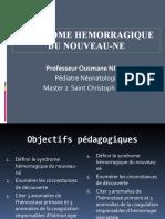 Syndrome Hemorragique Du Nouveau-ne-master 2 Euromed 2021