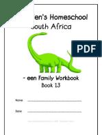 een End-Word Family Workbook, Donnette E Davis, St Aiden's Homeschool, South Africa