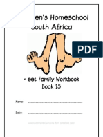 eet End-Word Family Workbook, Donnette E Davis, St Aiden's Homeschool, South Africa