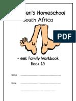 eet End-Word Family Workbook, Donnette E Davis, St Aiden's Homeschool, South Africa