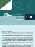 Placas de fiscalização - CAU Piauí