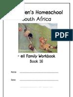 ell End-Word Family Workbook, Donnette E Davis, St Aiden's Homeschool, South Africa