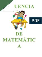 SECUENCIA DE MATEMATICA 2015