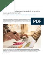 Aprenda como calcular o preço de venda de um produto ou serviço de forma simples - Blog do Sebrae Santa Catarina