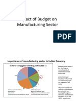 Impact of budget on manufacturing sector