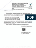 Surat Batas Waktu Input Usulan Di Aplikasi Insentif Jan-Apr 2021