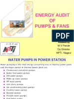 5.Energy Audit of Pumps & Fans