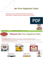 Vegetarian Cakes From Patisserie Uno