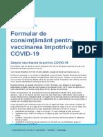Covid 19 Vaccines Formular de Consim m Ntpentru Vaccinarea Mpotriva Covid 19 Consent Form for Covid 19 Vaccination