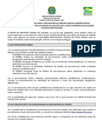2ª) Edital de Matrícula (RETIFICADO)