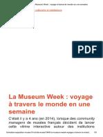 La Museum Week _ voyage à travers le monde en une semaine