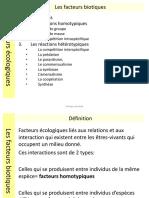 4 Les Facteurs Biotiques