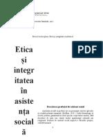 Etica Si Integritatea in Asistenta Sociala