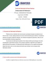 TPI_2_Processos de fabricação de peças plásticas