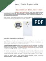 Paneles Solares - Caja de conexiones y diodos de protección