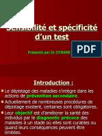 SENSIBILITE ET SPECIFICITE D UN TEST
