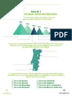 Dmf Ficha 1 Os Pontos Mais Altos de Portugal