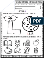 ATIVIDADE LETRA L