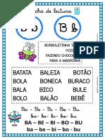 FICHA DE LEITURA LETRA B