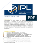 Cursus Développeur Oracle IPL