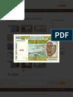 Anciens billets de la BCEAO retirés de la circulation | 500