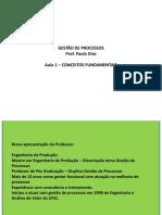Gestão de Processos - 01 - Conceitos Fundamentais