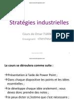 Stratégies Industrielles Cours PDF Omar Tijani
