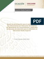 Bases de participación Admision EMS 2020-2021