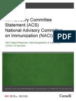 Naci Rapid Response Interchangeability Authorized COVID-19 Vaccines