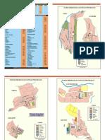 Distancias entre la capitales provinciales y distritales de Huancavelica