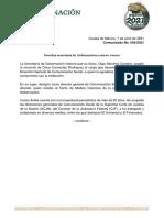 Comunicado No. 056_nombramiento Secretaría de Gobernación_nuevo vocero