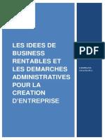 LES IDEES DE BUSINESS RENTABLES