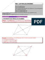 Quadrilatères Parallelogrammes