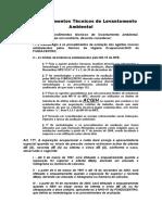 Dos Procedimentos Técnicos de Levantamento Ambiental_IN99