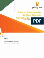 Aula 9 e 10 - Sistemas de Gestão Integrada e Sistemas Normatizados
