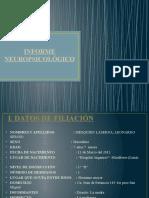INFORME NEUROPSICOLÓGICO PPT