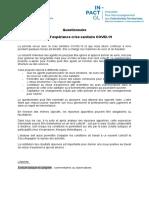 20 05 Questionnaire RETEX COVID 19 Collectivités