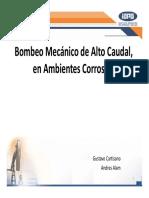 BOMBEO MECANICO DE ALTO CAUDAL EN AMBIENTES CORROSIVOS