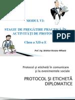 Tipuri de Actiuni de Protocol Si Amplasamentul La Masa a Invitatilor