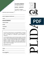 PLIDA B1 - prova esempio - ascleg