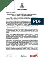 Comunicado. Comportamiento de Delitos Durante La Pandemia en Bogotá (1)