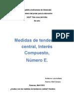Medidas de Tendencia Central, Interés Compuesto,