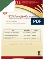 NPTEL workshop announcement