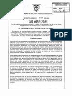 DECRETO 452 DEL 30 DE ABRIL DE 2021