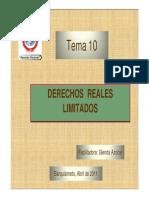 10.Tema 10 Derechos Reales Limitados