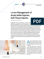Acute Ankle injuries